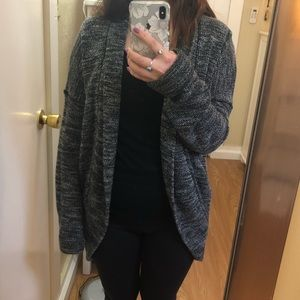 Aerie black and white lounge cardigan